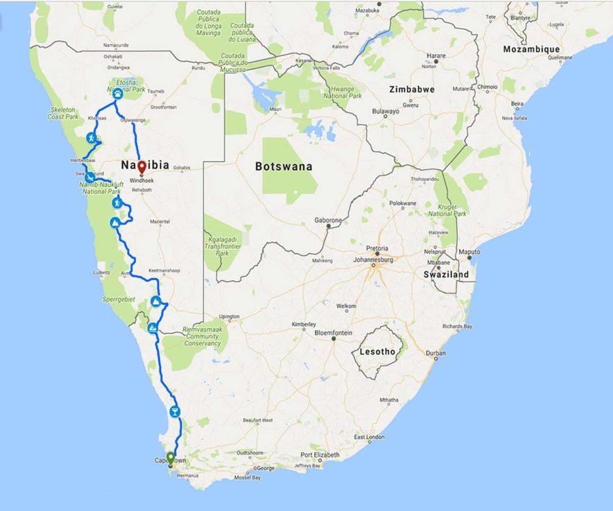 Safari Groepsreis Camping - 25 DAGEN KAAPSTAD, NAMIBIË, ETOSHA, BOTSWANA, OKAVANGO DELTA, VICTORIA FALLS & JOHANNESBURG 89