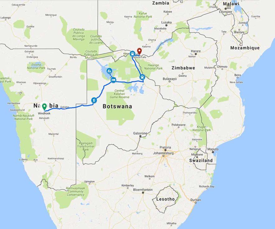 Safari Groepsreis Lodges - 19 DAGEN KAAPSTAD, NAMIBIË, BOTSWANA & VICTORIA FALLS 130