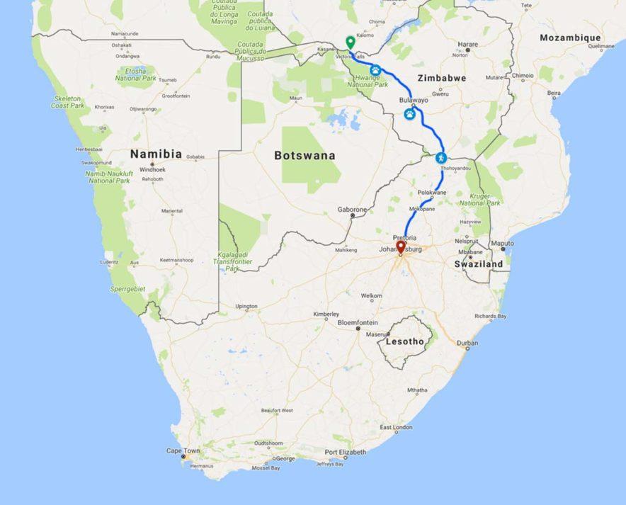 Safari Groepsreis Lodges - 14 DAGEN WINDHOEK, BOTSWANA, VICTORIA FALLS, ZIMBABWE, JOHANNESBURG 128